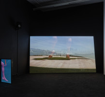 Arrhythmia  2019 3 channel video installation (the part of the installation) Left : Before you know / loop Right : Golem / 14 mins 43 sec