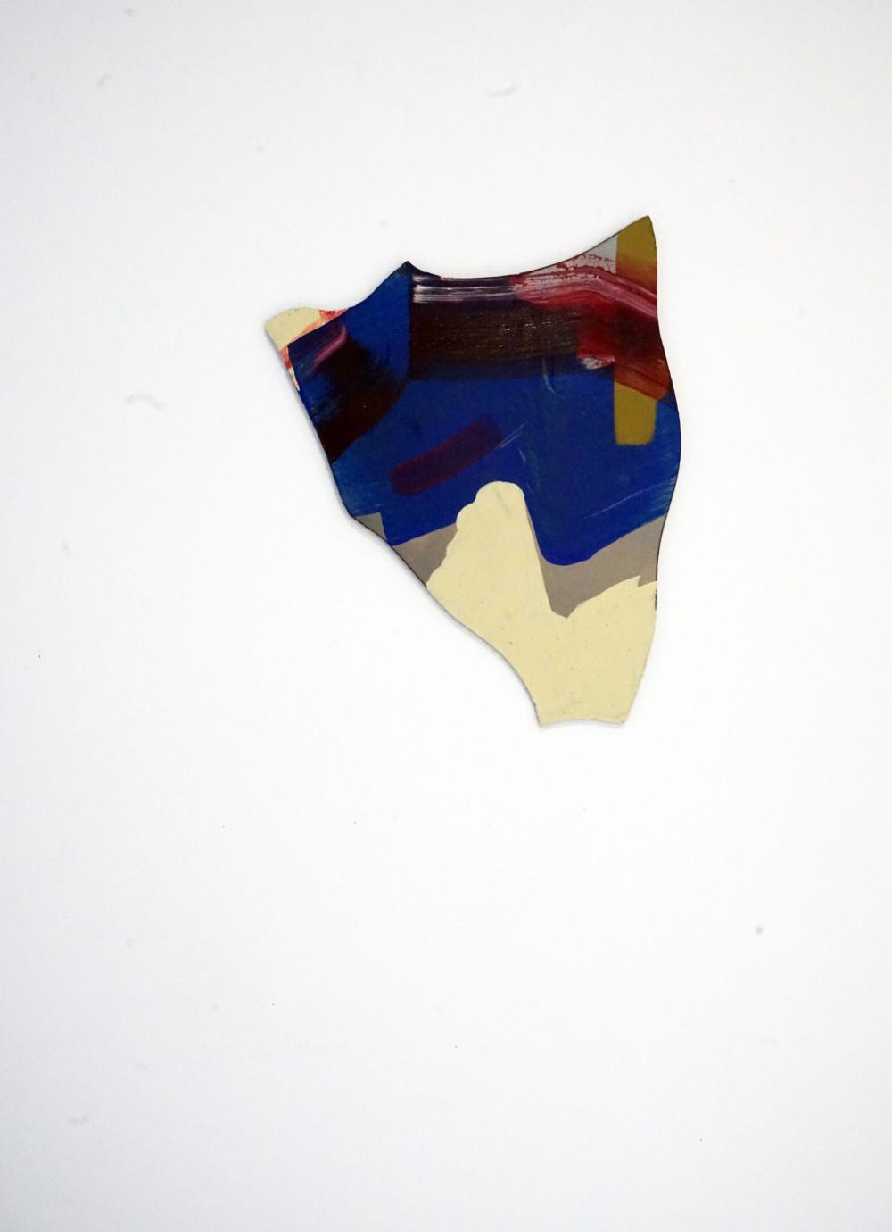 Pao-Leng Kung, Pattern overlay y, Acrylic on mild steel