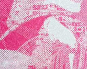 From the Beauty series, yūzen dye on silk, 30 x 30 cm. 2016