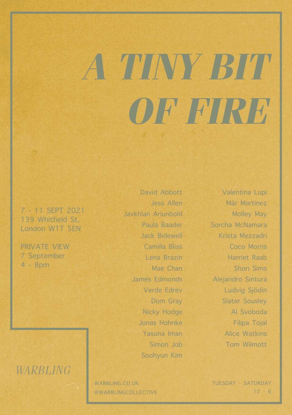 A Tiny Bit Of Fire - Poster
