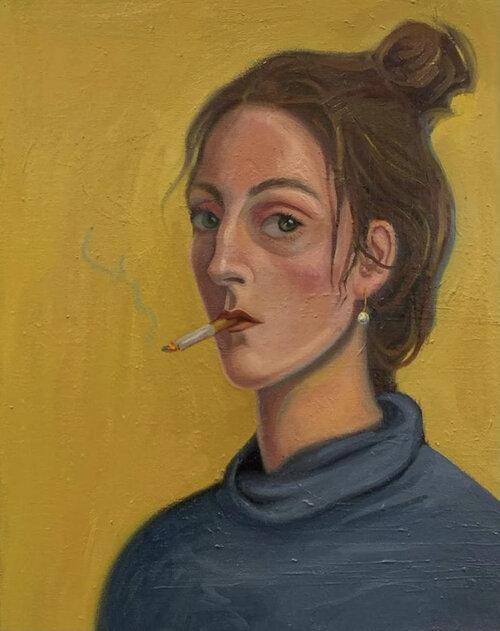 Mari Tskiria - Self Portrait with a Cigarette