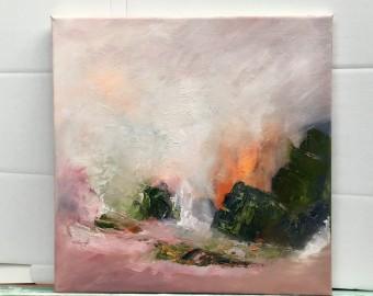 Renewal 1 35 x 35cm oil on canvas
