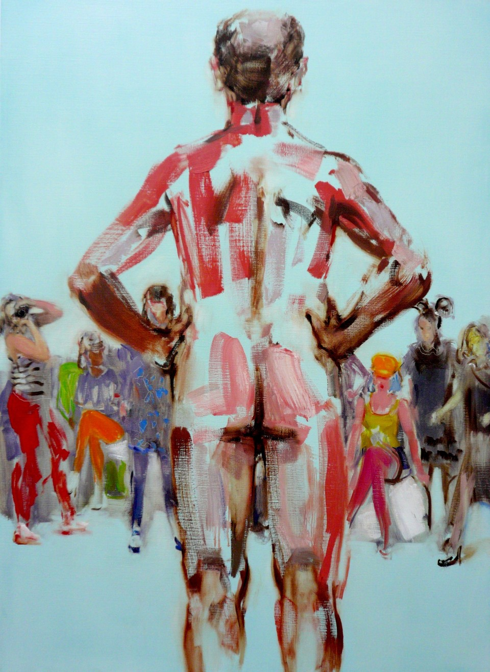 The Fashionistas are Coming  2017  oil on canvas  112 x 82 cm