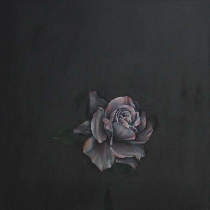 'I Feel Love', oil on linen, 75 x 75 cm, 2015
