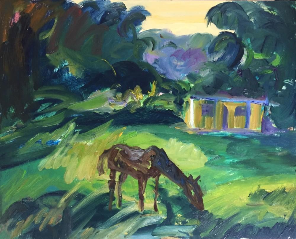 Cuba; Vinales - Oil on Board  26 x 20 cm