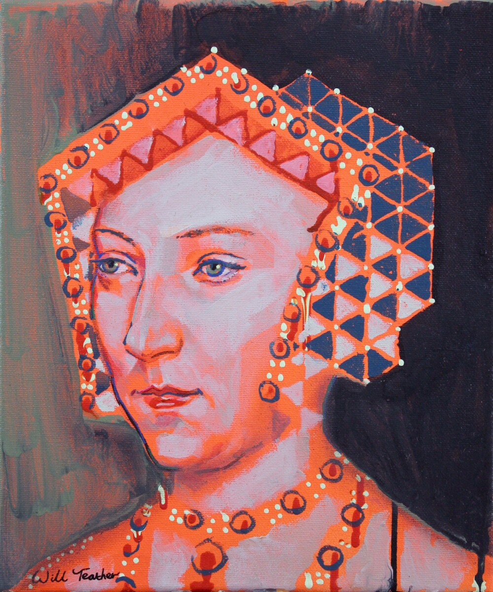 jane seymour (after holbien) - acrylic on canvas-30x25cm - £485